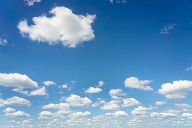 Background of cloudy blue sky