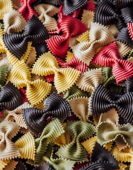 Background of colored pasta