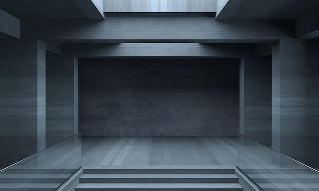 Background  concrete maze interior room