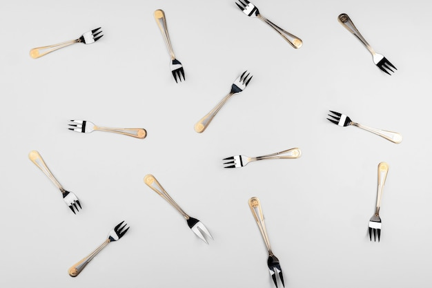 Background of cutlery set of cutlery