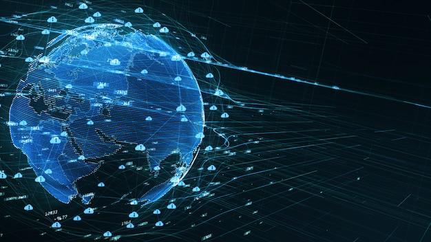 Background digital data 5g connectivity