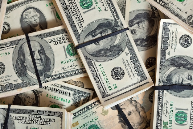 Background of dollars banknotes