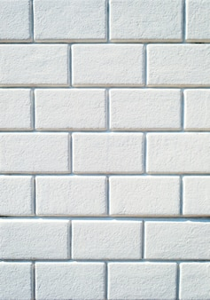 Background of empty white brick wall texture