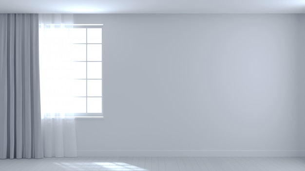 Background empty white room beam