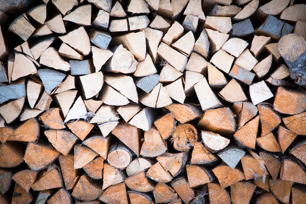 Background of firewood stack
