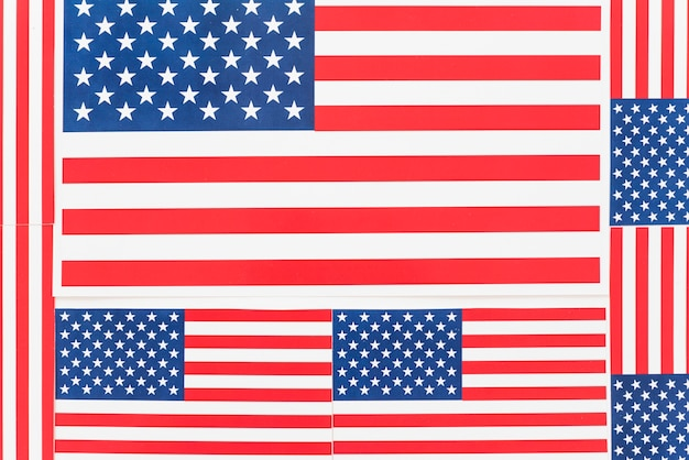 Background flags of america