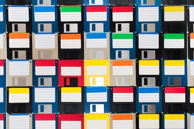 Background of floppy disks