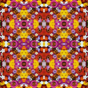 Background of flowers and berries, seamless pattern.