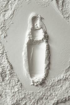 化粧品小麦粉の背景の背景