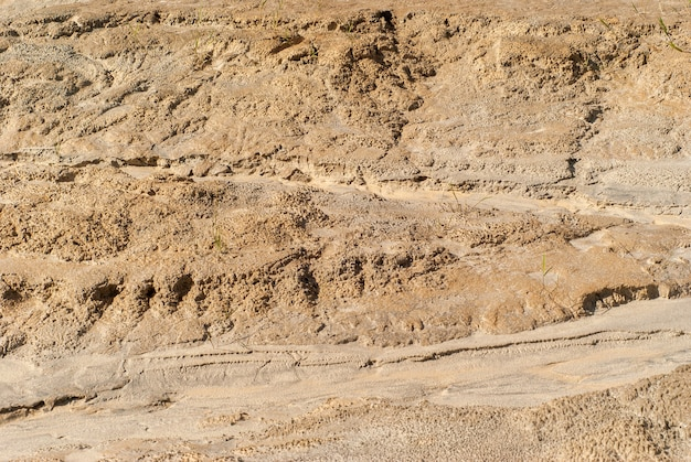 Background - a fragment of a dried clay channel of a water stream