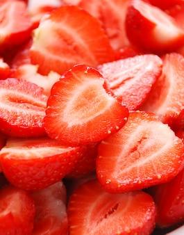 Background of fresh strawberries