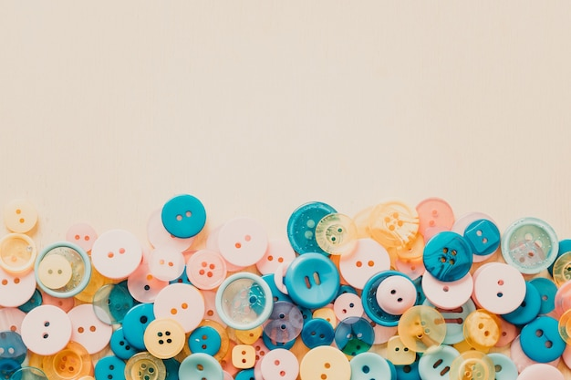 Background from buttons of different colors. high quality photo