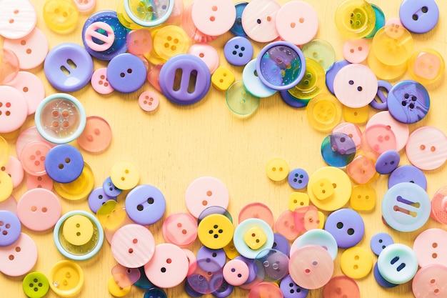 Фон из кнопок разного цвета. фото высокого качества