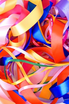 Background from colorful ribbon