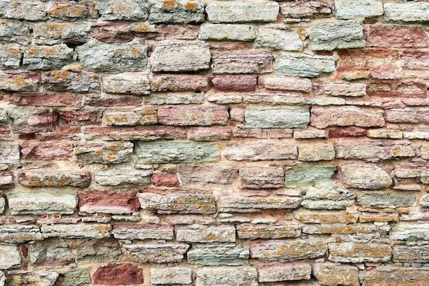 Фон из разрушенной кирпичной стены