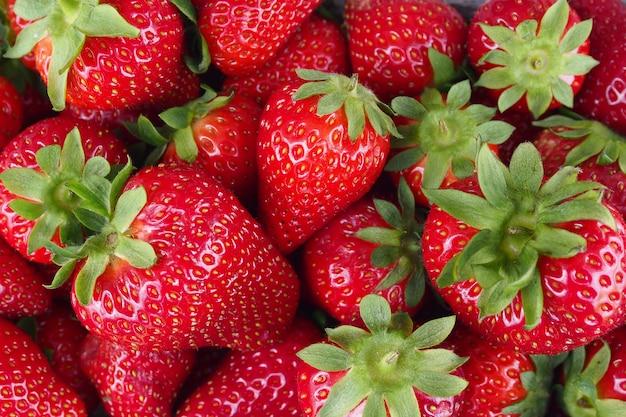 Background from freshly harvested strawberries
