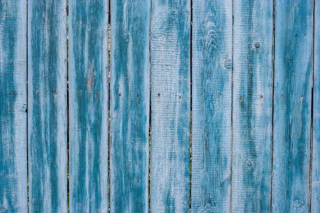 Фон из старых досок забора синим цветом
