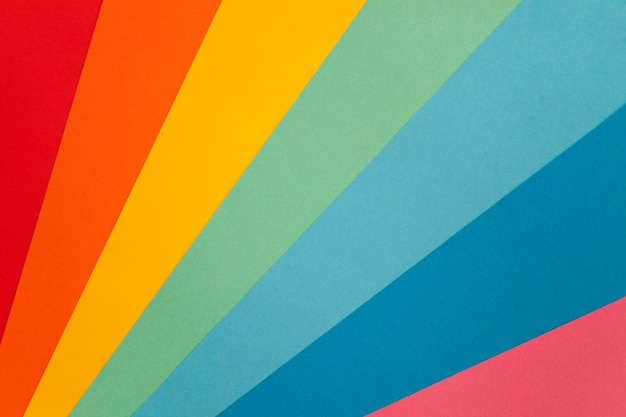 Background from a palette of colored paper