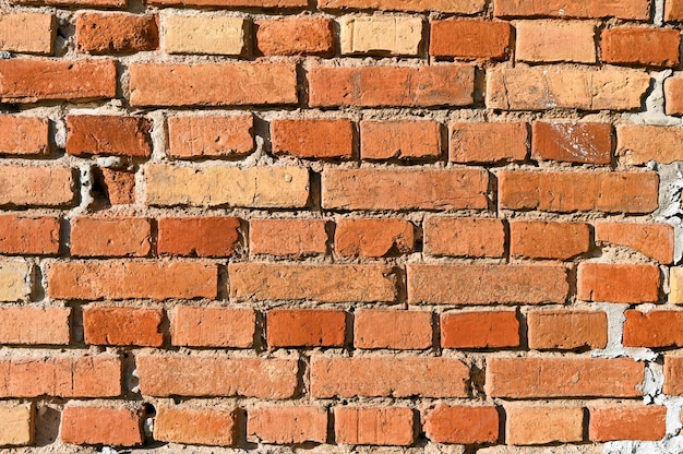 赤レンガからの背景。れんが壁。