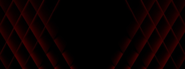 Background from red rhombuses, geometric shapes, 3d render, panoramic layout image