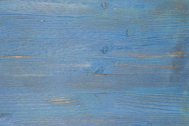 Background from textured aged boards of a blue color.