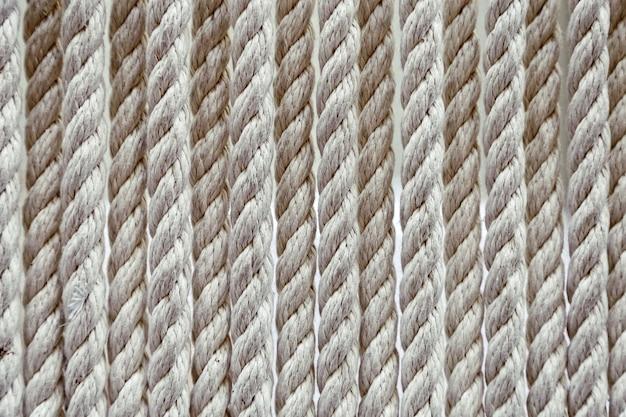 太いロープで作られた繊維の背景