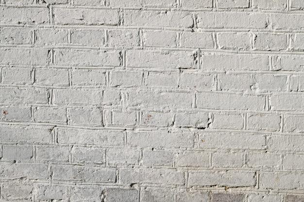 白いレンガからの背景。れんが壁。