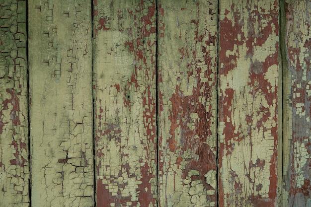 Фон из деревянных старых досок зеленого цвета. текстура дерева.