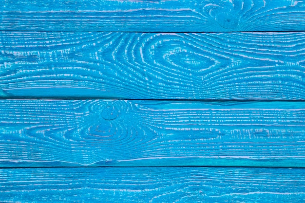 Background from wooden texture boards painted with bright blue paint. horizontal.