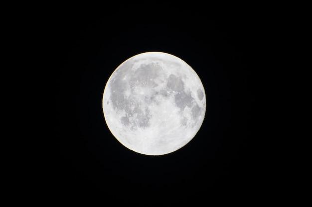 Background of full moon in the dark night