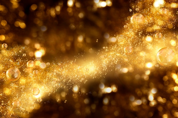 Background of gold glitter for premium beauty product