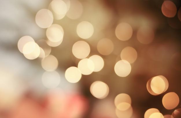 Background of golden defocus lights