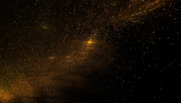 Background of golden particle dust powder