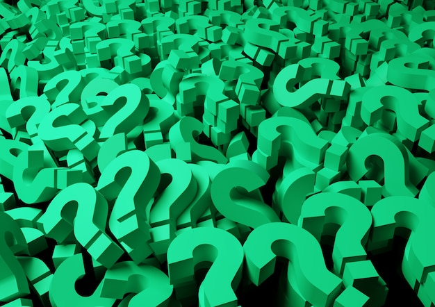 Background green question marks