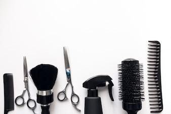 背景美容院のサロンの髪