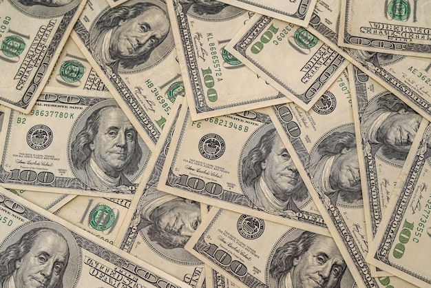Background of heap of dollars