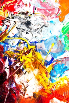 Background image of bright watercolor paint palette