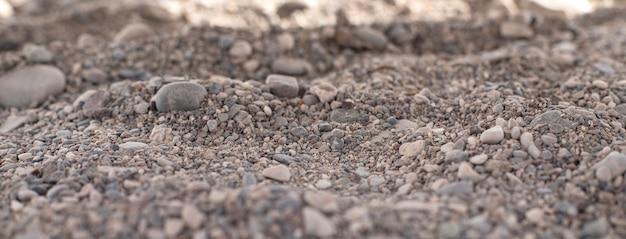 Фоновое изображение мелких камней. галька. макрос