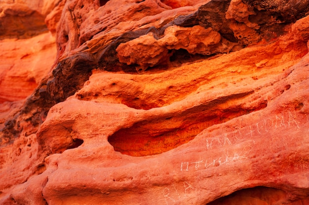 Background image of saturated red canyon in egypt Premium Photo