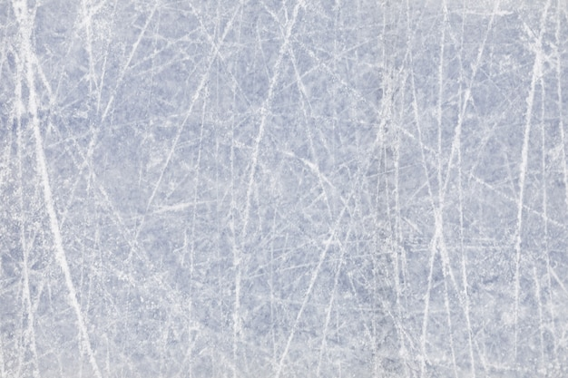 Background image of textured ice on skating rink