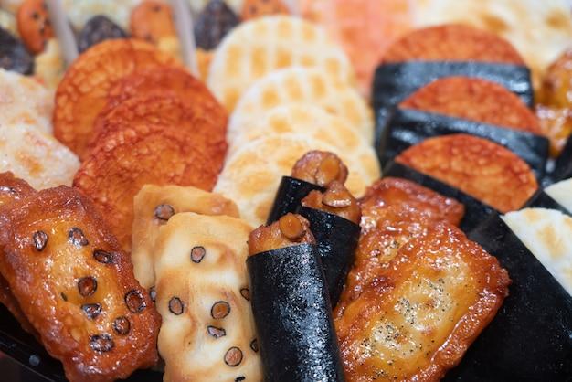 Background of japanese rice cracker