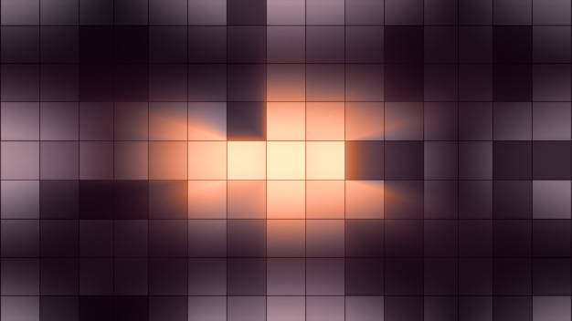 Background light squares blink. club atmosphere
