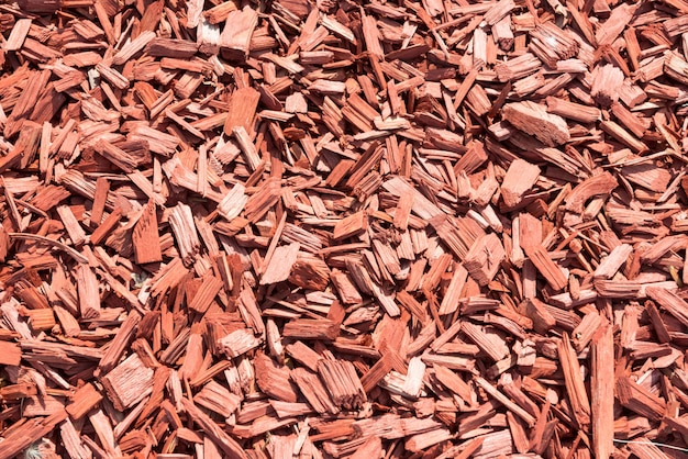 茶色の木のチップから作られた背景