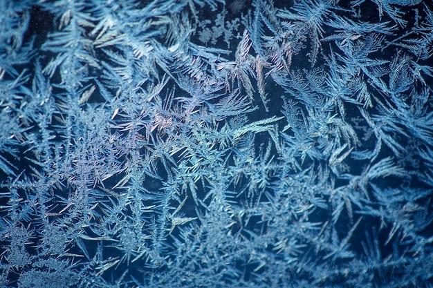 겨울 냉동 창 유리로 만든 배경
