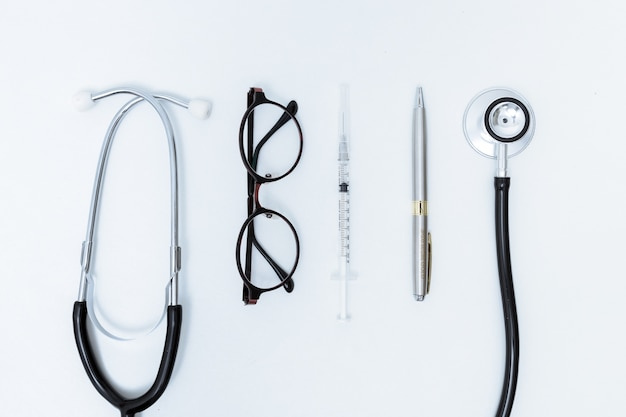 Background of the medical.  isolated on white background. studio lighting. concept for healthy and m