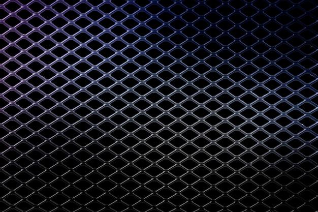 파란색 메쉬와 배경 금속 검정
