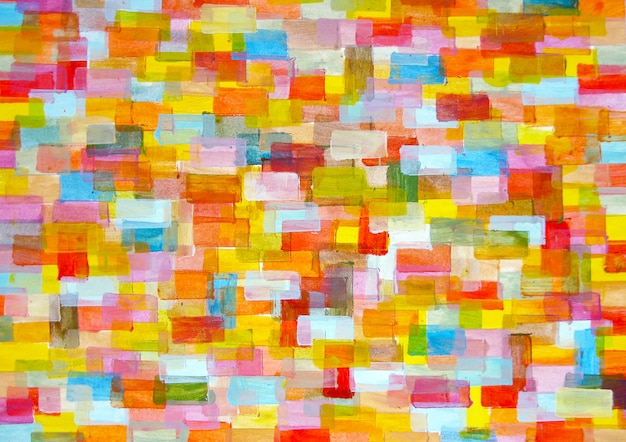Background. multicolor  folded rounded rectangles. photograph of artistic painting in acrylic painting on cardboard.