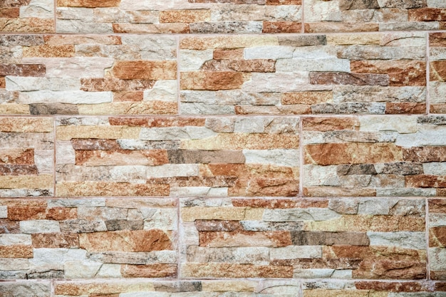 Background of natural brown stone tiles