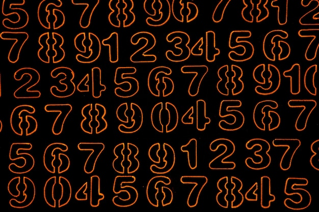 Background of numbers from zero to nine