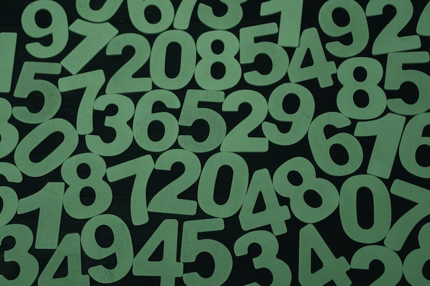 Background of numbers or seamless pattern with numbers